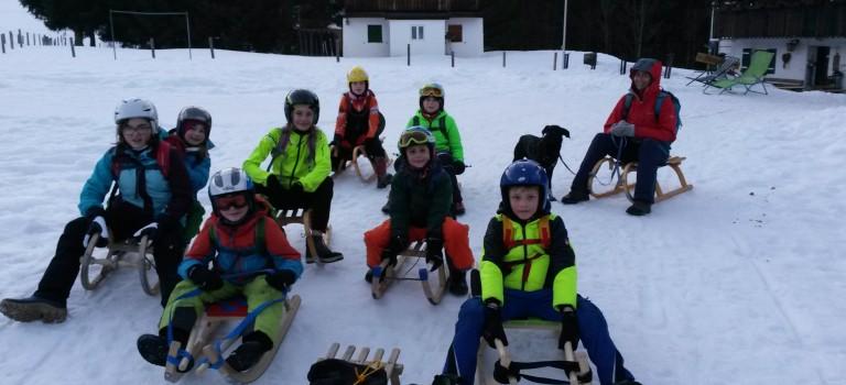 Schlittenfahren Nattersbergalm – 16.02.2017