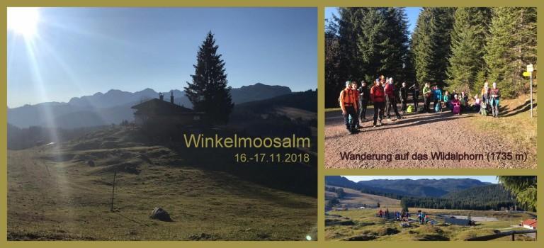 Winkelmoos Hütte – 16.-17.11.2018